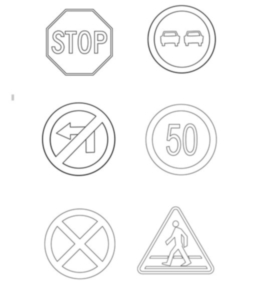 Znaki Drogowe Dla Dzieci Kolorowanki Rysunki Znaki Drogowe Pl
